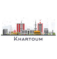 Khartoum sudan city skyline with gray buildings vector