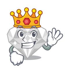 King white diamond in character box vector