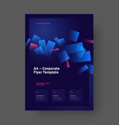 layout design for business purpose a4 size vector image