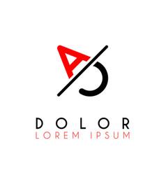 logo a slash c with black red vector image