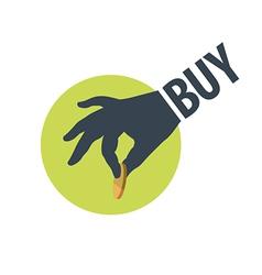 logo hand holding a coin vector image