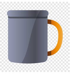 Metal mug icon cartoon style vector