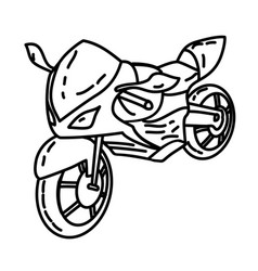 Motorbike icon doodle hand drawn or outline icon vector