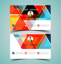 name card template3 vector image