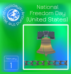 National freedom day liberty bell broken chain vector