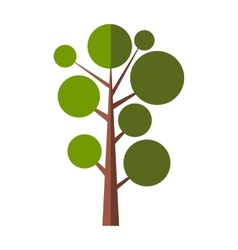 Nice tree flat symbol vector