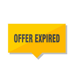 Offer expired price tag vector