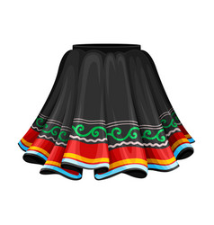 Peruvian female flared skirt as country attribute vector
