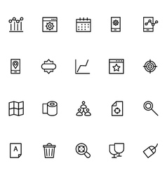 Productivity and Development Icons 6 vector image