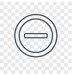 restaurant concept linear icon isolated on vector image