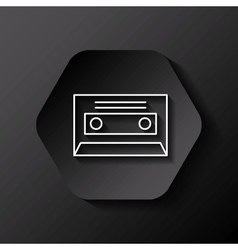Retro casette icon vector