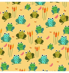 retro frog pattern vector image
