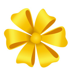 Ribbon bow made in form flower decorative icon vector