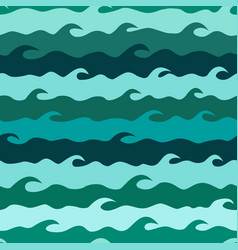 seamless pattern with stylized sea waves vector image