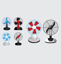 set electric fan vector image