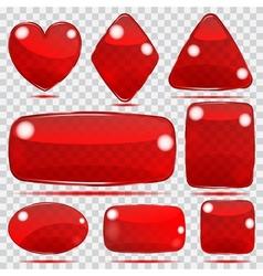 Set of transparent glass shapes vector image