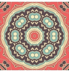 Stylized seamless mandala flower for greeting card vector image