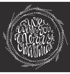 we wish you a merry christmas handdrawn vector image