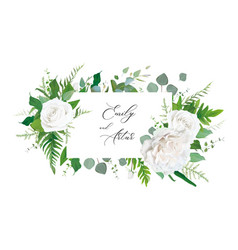 wedding floral invitation invite save date vector image