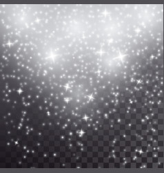 White falling stars light effect vector