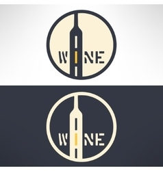 wine shop logo in modern flat design Wine vector image