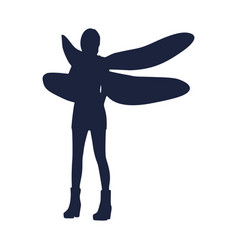 Woman dragonfly vector