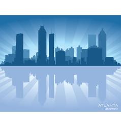 Atlanta Georgia skyline vector image vector image