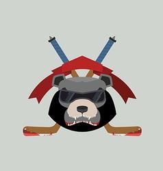 Bear Hockey Logo vector image