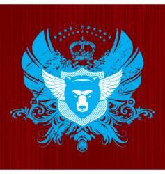 heraldry with bear head vector image