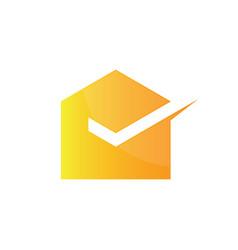 abstract mail logo image vector image