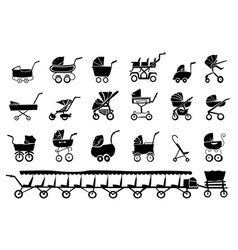 baby strollers vector image vector image