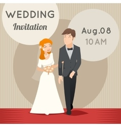 Bride and groom template wedding vector
