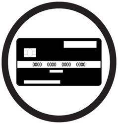 Credit card flat icon monochrome vector image vector image