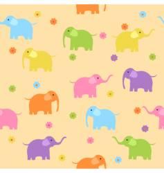 elephants background vector image vector image