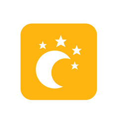 moon and star lullaby good night flat color vector image