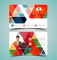 name card template4 vector image vector image