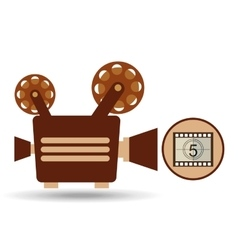 camera movie vintage counting strip design vector image