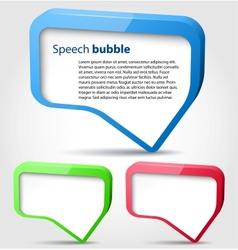 Colorful 3d bubble speech vector image