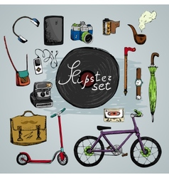 must have hipster elements vector image vector image