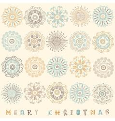 Vintage Christmas Pattern Card vector image