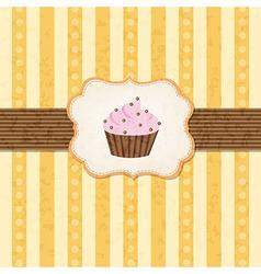 Vintage Cupcake Background vector image vector image
