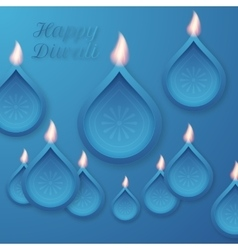 a happy Diwali day vector image