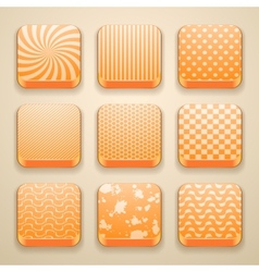 background for the app icons vector image