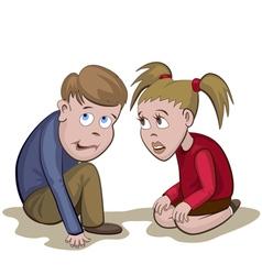 Kids Fear vector image