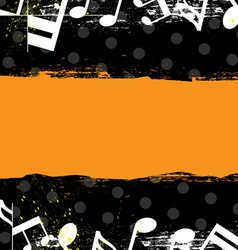 music grunge banner design vector image vector image