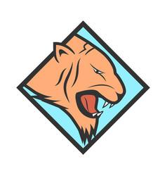 tiger head logotype vector image