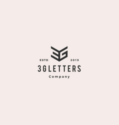 3g logo hipster retro vintage icon monogram vector