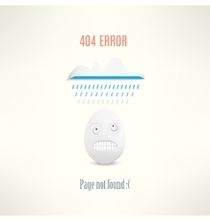 404 web page not found error with funny vector image
