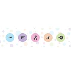 5 gun icons vector
