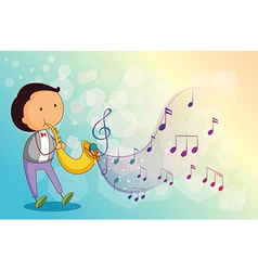A musician with a trumpet vector image